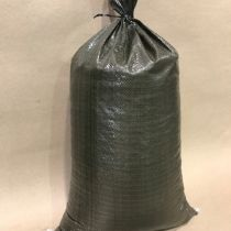 Sand Bags - Available in white or green with tie cord.